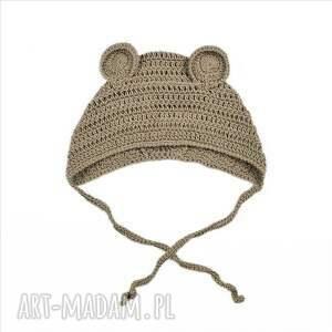 handmade czapki czapka miś bawełniana dziecięca