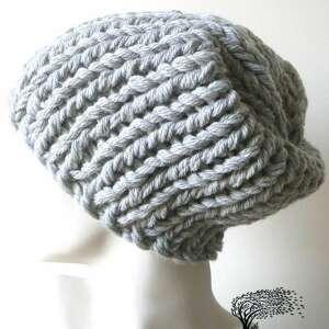 niesztampowe czapki czapa bezszwowa czapka w wykonana na drutach grubym