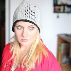 frapujące czapki czapka na podszewce damska ażurowa