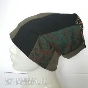 oryginalne czapki czapka patchwork smerfetka dresowa