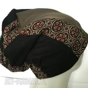 etno czapki czapka patchwork smerfetka dresowa