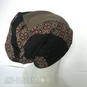 oryginalne czapki etno czapka patchwork smerfetka dresowa