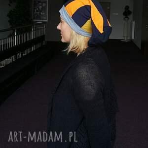 eleganckie czapki czapka patchworkowa damska długa