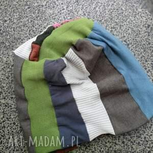 wyjątkowe czapki czapka patchworkowa kolorowa damska