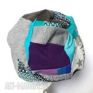 czapki czapka patchworkowa boho tkanina