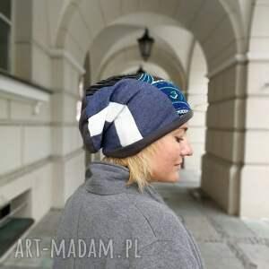 ręczne wykonanie czapki czapka patchworkowa boho tkanina