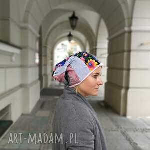 niepowtarzalne czapki czapka patchworkowa boho tkanina
