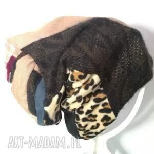 etno czapka patchworkowa boho tkanina