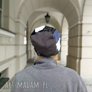 ręczne wykonanie czapki etno czapka patchworkowa boho tkanina