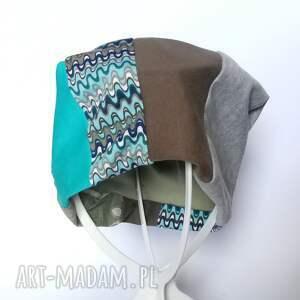 etno czapki czapka patchworkowa boho tkanina