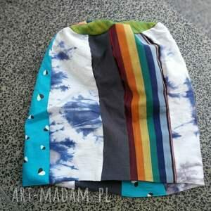 czapki etno czapka patchworkowa kolorowa damska
