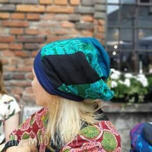 czapki czapka patchworkowa bardzo długa