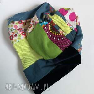 Ruda Klara czapki: czapka patchworkowa damska uniwersalna - hand made folk