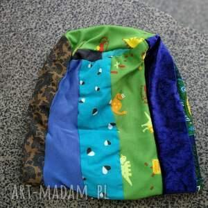 ręczne wykonanie czapki patchwork czapka patchworkowa kolorowa damska