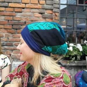etno czapki czapka patchworkowa bardzo długa