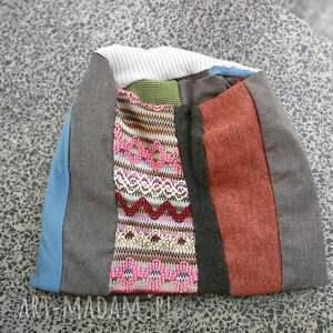 etno czapki czapka patchworkowa kolorowa damska