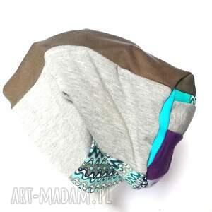 czapki etno czapka patchworkowa boho tkanina