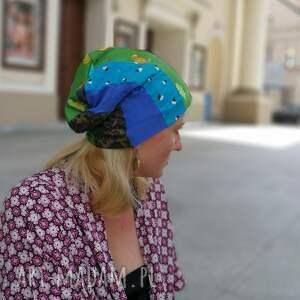 czapki patchwork czapka patchworkowa kolorowa damska