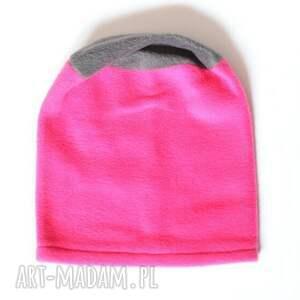 handmade czapki dziecko czapka polarowa dziewczęca
