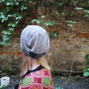 wyjątkowe czapki czapka szara smerfetka dzianiowa