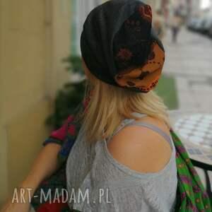 etno czapki czapka szara prosta damska boho