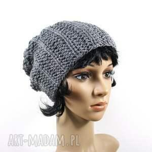 czapki zima czapka szara