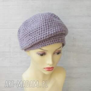 zimowa czapka czapki szydełkowa oversize