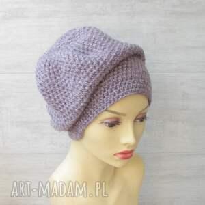 zimowa czapka szydełkowa oversize