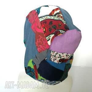 handmade czapki czapka szyta patchworkowa kolorowa