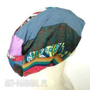 handmade czapki etno czapka szyta patchworkowa kolorowa