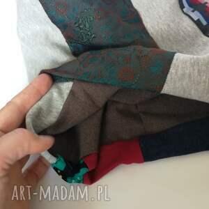 czapki etno czapka szyta patchworkowa kolorowa