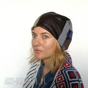 czapki patchwork czapka szyta patchworkowo ciepła