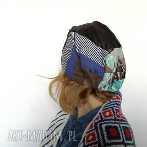 patchwork czapki czapka szyta patchworkowo ciepła