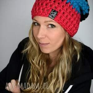 czapki ciepła czapka tricolour
