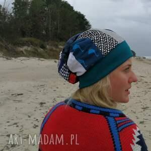 czapki etno czapka turban wywinięta kolorowa