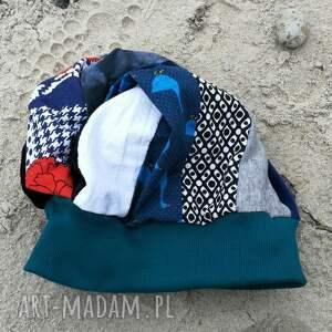 niepowtarzalne czapki etno czapka turban wywinięta kolorowa