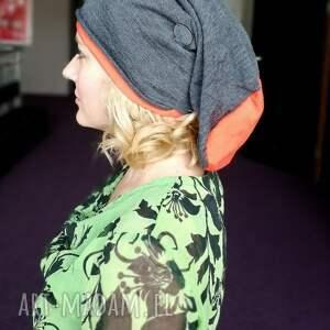 hand made czapka unisex długa smerfetka