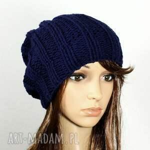 efektowne czapki czapka dziergana unisex zimowa robiona