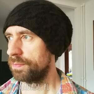 eleganckie czapki męska czapka unisex wełna brąz czarny