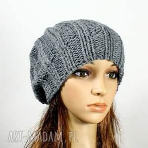 niepowtarzalne czapki czapka na drutach unisex zimowa robiona