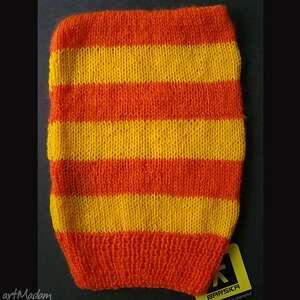 wyjątkowe czapki czapka w pasy pomarańczowo