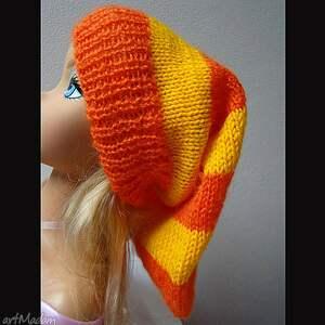 delikatna czapki czapka w pasy pomarańczowo