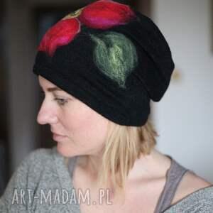 ciekawe czapki czapka wełniana damska czarna