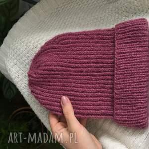 beanie czapki czerwone czapka wełniana na drutach zimowa