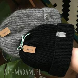 czapki beanie czapka wełniana na drutach zimowa