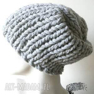 czapki dziergana czapka #36