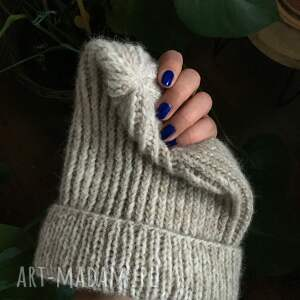 wool czapki czapka wełniana na drutach zimowa