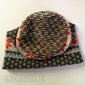 norweska czapki czapka wełniana damska