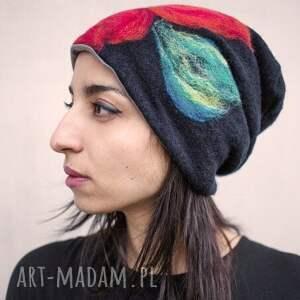 intrygujące czapki wełna czapka wełniana filcowana