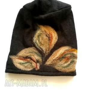 hand made czapki wełna czapka wełniana damska etno boho
